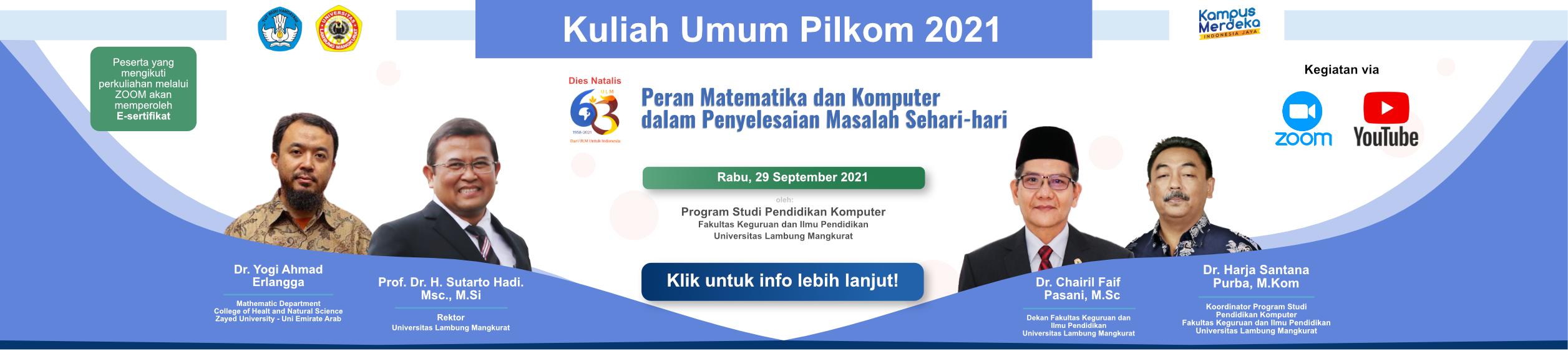 Kuliah Umum Pilkom 2021